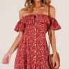现货!跨境专供 亚马逊 ebay 爆款新款碎花一字领性感连衣裙女