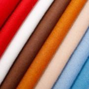 厂家直供梭织单面顺毛羊毛面料时尚男女装大衣外套毛呢面料定制