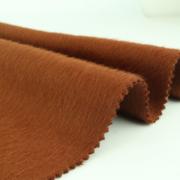粗纺双面呢阿尔巴卡毛呢面料冬款素色仿羊驼双面顺毛大衣面料定制