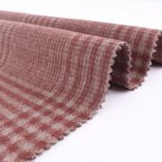 粗纺梭织顺毛羊毛格子毛呢面料双面呢秋冬新款时尚大衣呢子布料厂
