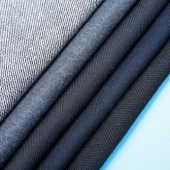 现货半精纺面料平板素色斜纹毛呢面料秋冬羊毛呢大衣毛纺面料
