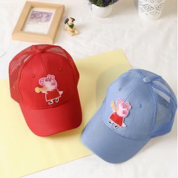 新款抖音 小猪帽子女抖音社会人同款白色棒球帽鸭舌帽亲子网帽