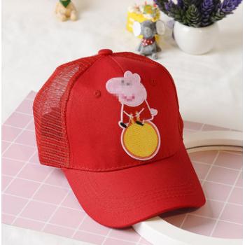 亲子款 抖音小猪帽子女棒球帽潮抖音鸭舌帽社会人夏季遮阳网帽