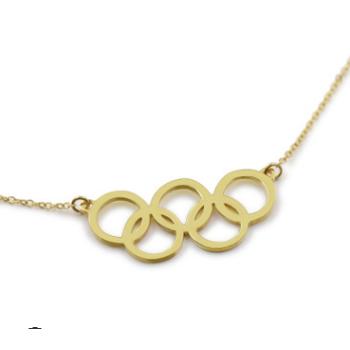 2018新款五环项链定做S925银创意饰品男女名字锁骨链DIY个性礼物