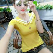 2018夏季新款短袖t恤女韩版显瘦百搭学生棉质上衣服女潮
