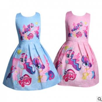 童裙批发女童夏装连衣裙女孩纯棉裙子儿童彩虹公主裙5303