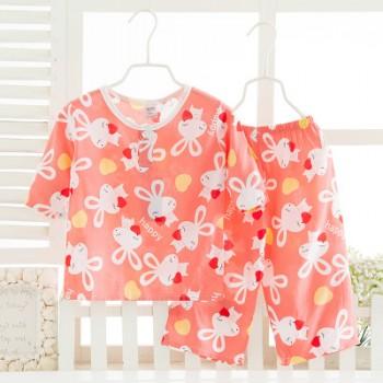 儿童棉绸童装批发夏装空调服宝宝绵绸套装夏季睡衣家居服新品