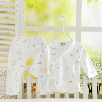童装厂家批发 婴儿内衣套装 全棉新生儿空调衣服 纯棉宝宝和尚服