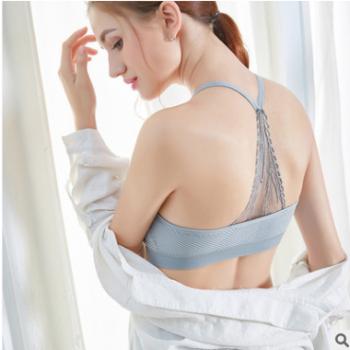 2018新款吊带裹胸 无缝时尚透气蕾丝运动文胸防走光针织抹胸批发