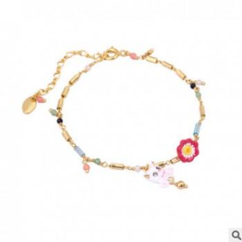 猫咪春日花园系列小猫手绘珐琅釉镀金欧美风手链法国饰品混批