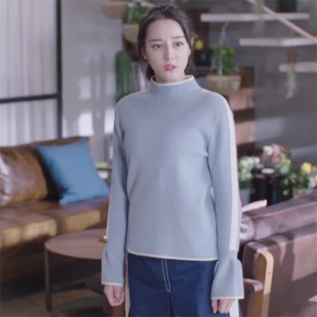 一千零一夜迪丽热巴同款毛衣凌凌七半高领韩版爆款针织衫女装批发