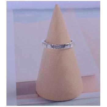 韩版新款S925纯银戒指泰银复古女式时尚简约开口镶钻指环首饰品