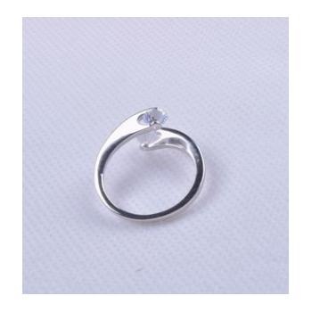 新款S925纯银戒指韩版镶钻女式款银饰品开口指环时尚女生手首饰品