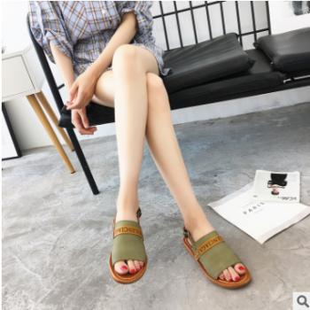 2018新款女士休闲鞋单鞋女 一件代发时尚平底鞋进口软皮拖鞋