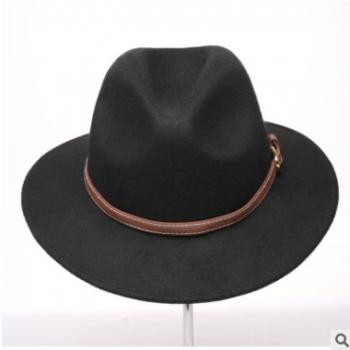 秋冬复古羊毛呢帽时尚爵士帽女士潮流气质毡帽外贸首选礼帽女