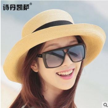 清仓帽子女士防紫外线可折叠帽子女式遮阳防晒太阳帽韩版沙滩草