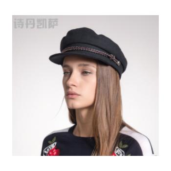 帽子女秋冬新品鸭舌帽时尚保暖帽棒球帽韩版潮帽子