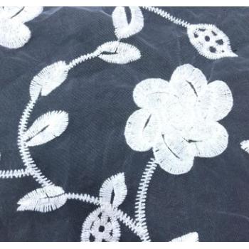 网布水溶绣花蕾丝面料 棉线花边满幅 DIY新款连衣裙透视婚纱辅料