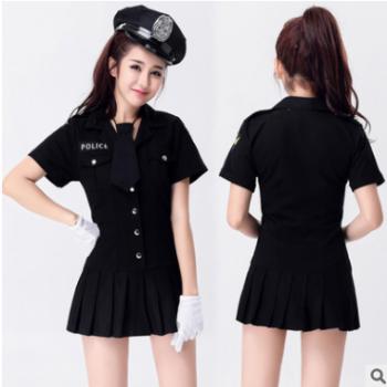 珠密恋 新款欧美货源情趣套装Cosplay服装女警特警警察制服批发