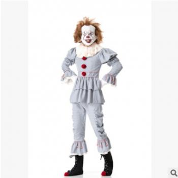 分码实拍万圣节舞台扮演服小丑回魂男装女装角色扮演套装游戏制服
