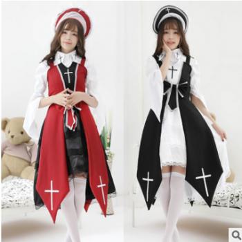 《十字女巫》Lolita基佬洋装裙 cos黑暗夜契约哥特复古动漫服