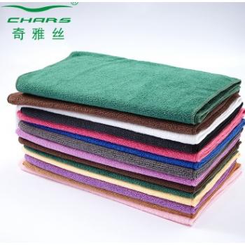奇雅丝毛巾工厂纯色超细纤维吸水毛巾厨房发廊美容院毛巾定做