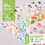 求购40s针织印花棉毛布 全棉保暖婴童三角巾卡通印花面料