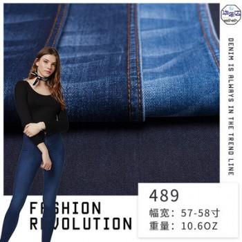 厂家直销裤子面料 denim欧美时尚弹性牛仔面料 女装斜纹牛仔布料