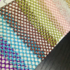 厂家现货 金粉六角网眼布 时尚箱包辅料金丝网布 烫金六角网面料
