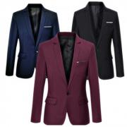 2018秋季新款男装修身小西装男韩版男士西服外套定制西装一件代发