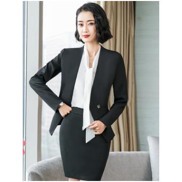 职业装套装女2018新款时尚秋冬气质黑色西装三件套经理店长工作服