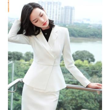 职业装女装2018新款小香风美容院西服套装女灰色英伦风秋冬正装