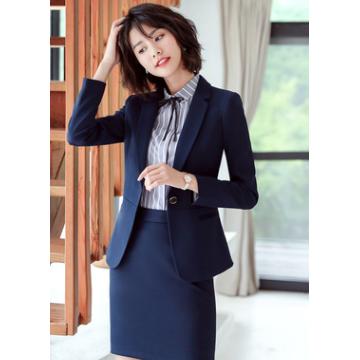 2018新款秋冬职业装长袖套装女时尚气质工作服女士面试商务西装正