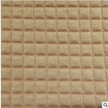 针织面料 厂家直销 空气层提花 小方格针织提花