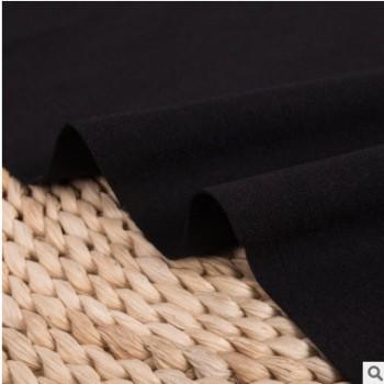 现货弹力涤棉罗马布厂家 针织弹力裤装布料批发 TR黑丝罗马面料