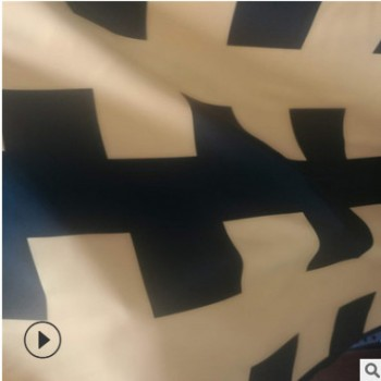 厂家直销 50D涤黑长城格双层布 羽绒服棉服家纺充绒面料 透气保暖