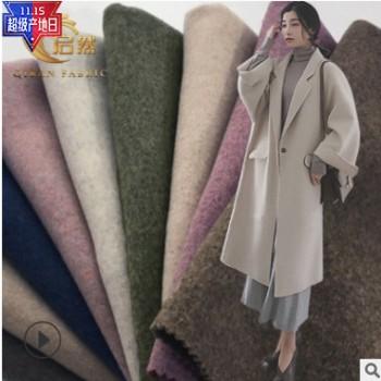 厂家直销 新款秋冬爆款女装大衣外套欧美风素色毛呢 现货供应批发