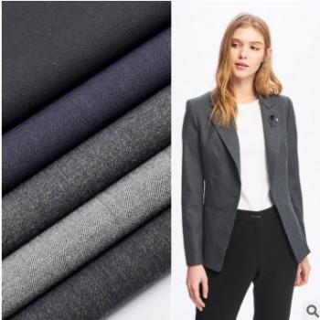 厂家直销 TR斜纹四面弹梭织色织布 工装职业装套装女装西装面料