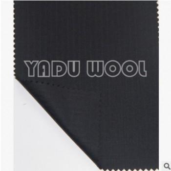条纹黑色男士西服面料 精纺男女装毛涤面料YD31006-2
