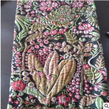 2017热卖彩色花新款梭织电子龙头剑杆织机大提花色织女装布批发