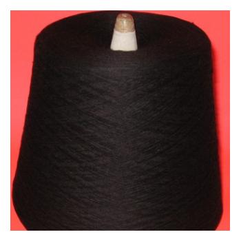 供应优质 32S/2黑色全棉纱 色泽鲜艳 用于毛织带 32S半精梳棉纱