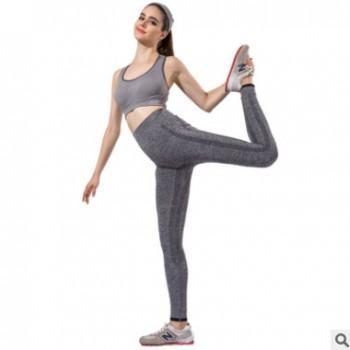 暴走的萝莉同款紧身小脚高弹力运动裤女秋速干跑步瑜伽健身长裤