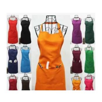 家用无袖围裙 纯色围裙 可定制加印logo 餐厅实用围裙 防污围裙