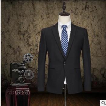 高端私人定制商务男西服伴郎新郎礼服套装职业西装批发