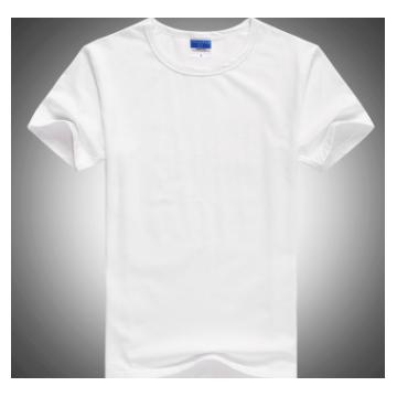 【厂家】莱卡精梳棉 圆领广告衫 男女烫画 文化衫 可印刷logo