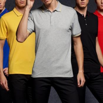 2017新款文化广告衫定做企业工装厂服190克莱卡棉翻领T恤POLO衫