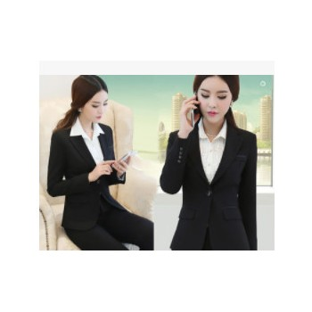上海定做职业装,女式小西服,男女西服套装修身裁剪韩版西装