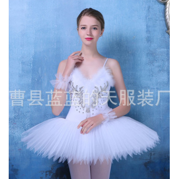 成人芭蕾舞裙 舞台演出比赛用纱裙 硬网纱蓬蓬裙 芭蕾TUTU裙外贸