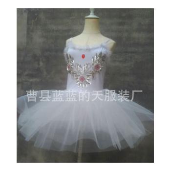工厂直销芭蕾舞裙成人芭蕾舞蹈裙纱裙白蓬蓬演出表演比赛服