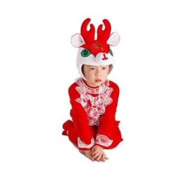 驯鹿亲子礼物小红鹿麋鹿圣诞节儿童动物表演服装演出服卡通